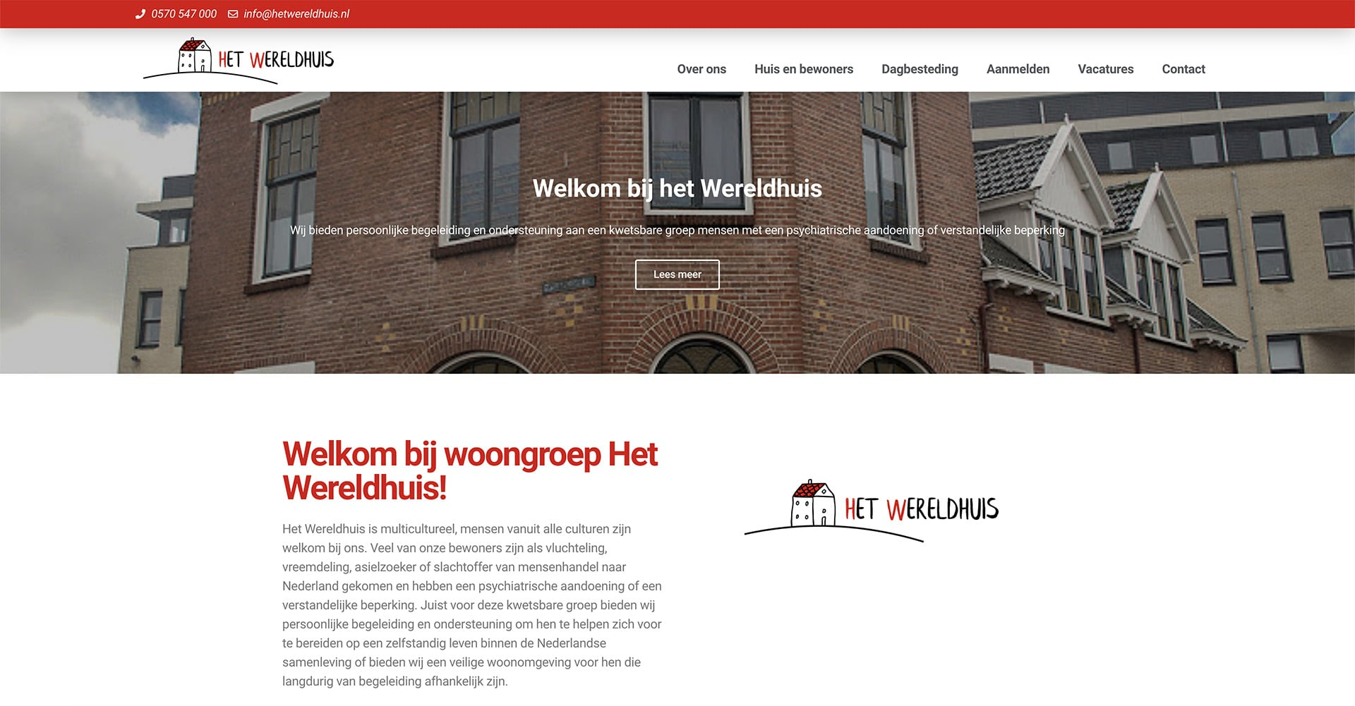 wereldhuis website