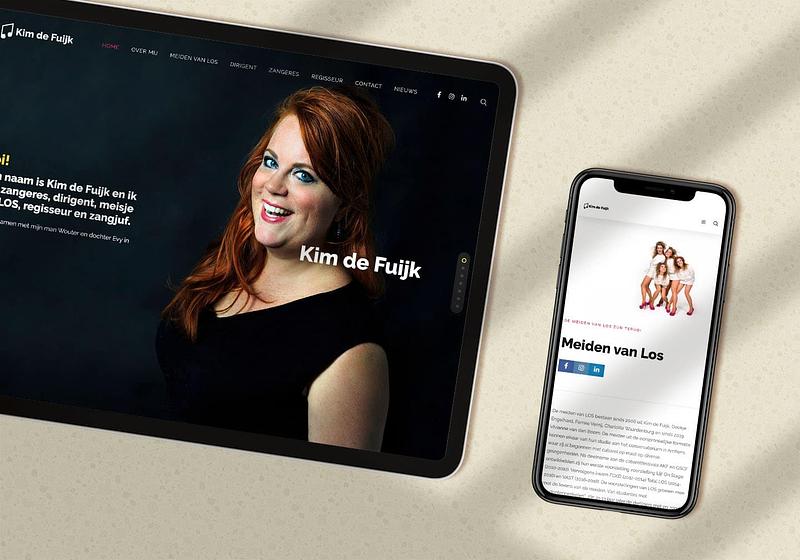 Kim de Fuijk website concept